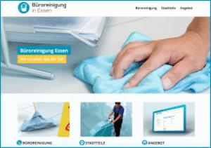 Info-Website Unterhaltsreinigung und Büroreinigung in Essen