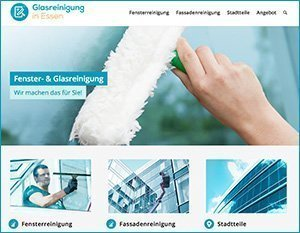 Info-Website Glasreinigung in Essen