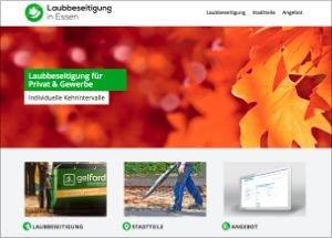 Info-Website Laubbeseitigung in Essen