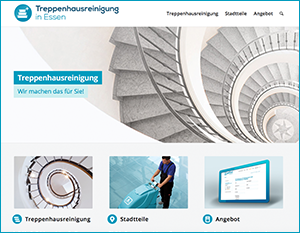 Info-Website Treppenhausreinigung in Essen