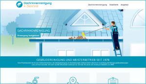 Info-Website Dachrinnenreinigung in Bielefeld